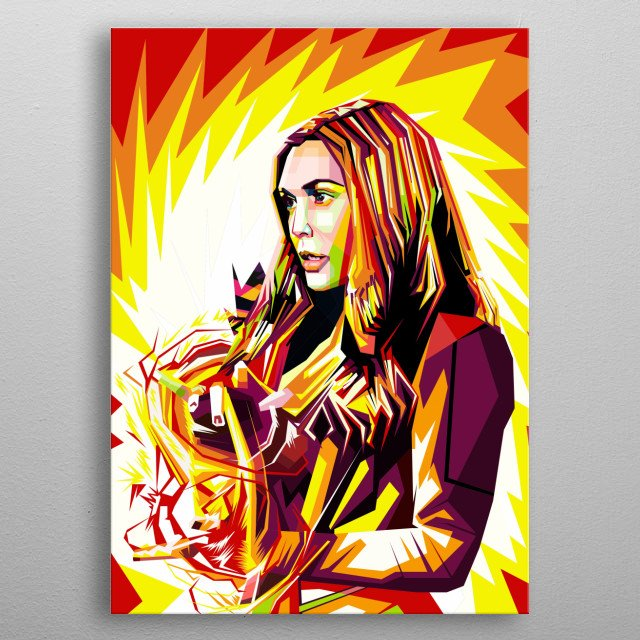 Great woman who is capable of fighting crime. Wpap Style metal poster