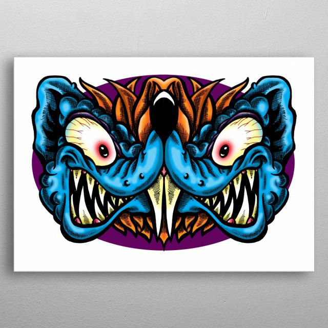 Ratical Freek Pop Art Poster Print Metal Posters Displate