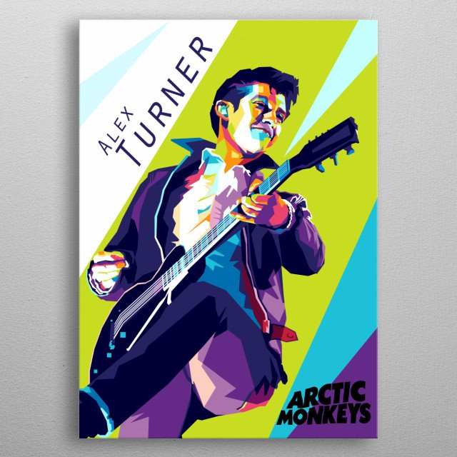 Alex Turner is best known as the frontman and principal songwriter of the rock band Arctic Monkeys metal poster