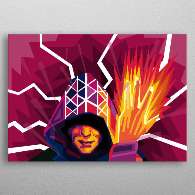 Wizard metal poster