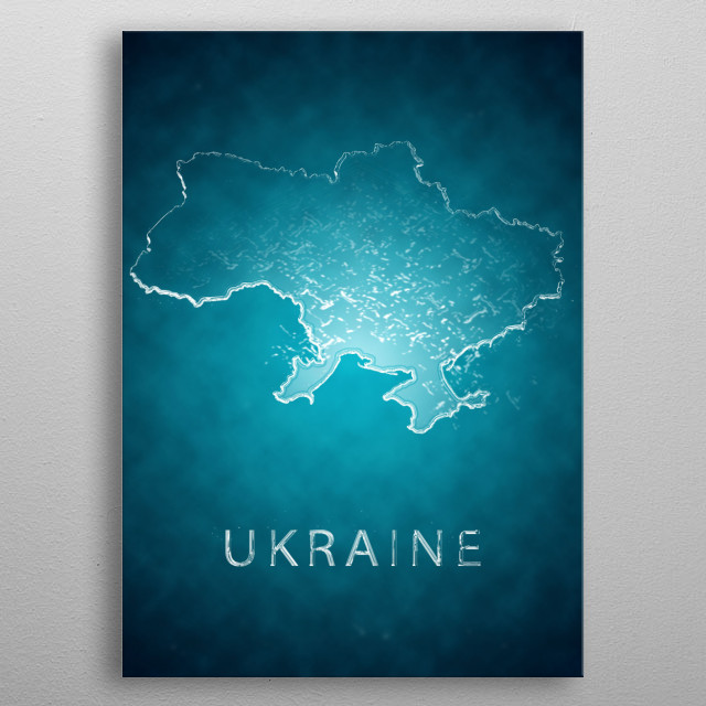 A map of Ukraine  metal poster