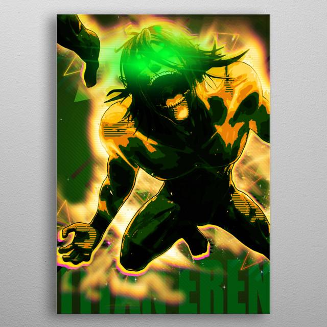 Titan Eren Jaeger metal poster