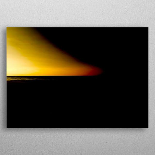 abstract deserted beach and sea metal poster