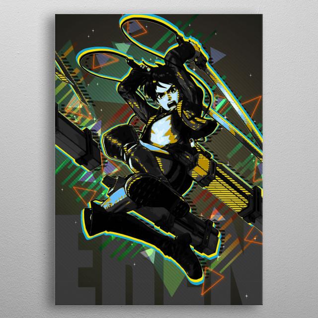 Eren Jaeger metal poster