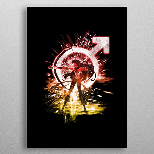 sailor mars metal poster