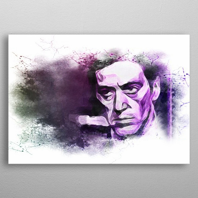 An artistic variation on the iconic Al Pacino in The Godfather movie. metal poster