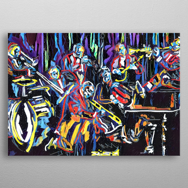 Jazz Band Art Abstract Poster Print Metal Posters Displate