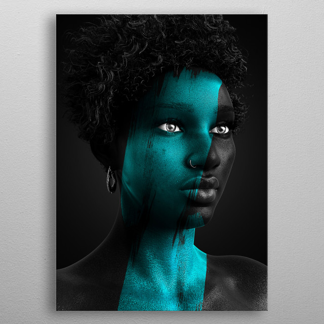Apart of the Onyx series that focuses on vibrant color and the beauty of blackness. metal poster