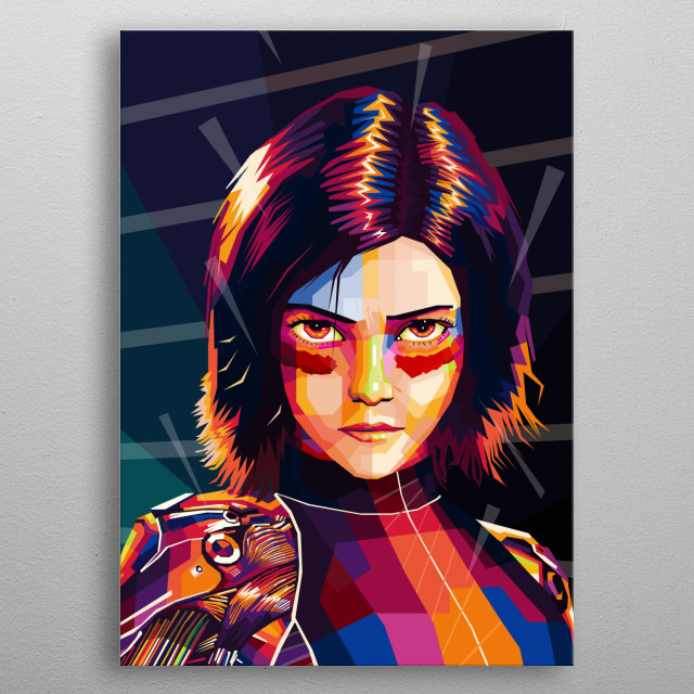 Appointed from the manga titled Gunnm by Yukito Kishiro, Alita: Battle Angel uses a world of dystopia. metal poster