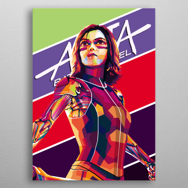 Alita is the name of Robot Perempuan, a film adapted from a famous Japanese manga called Gunnm (read: Ganmu) metal poster