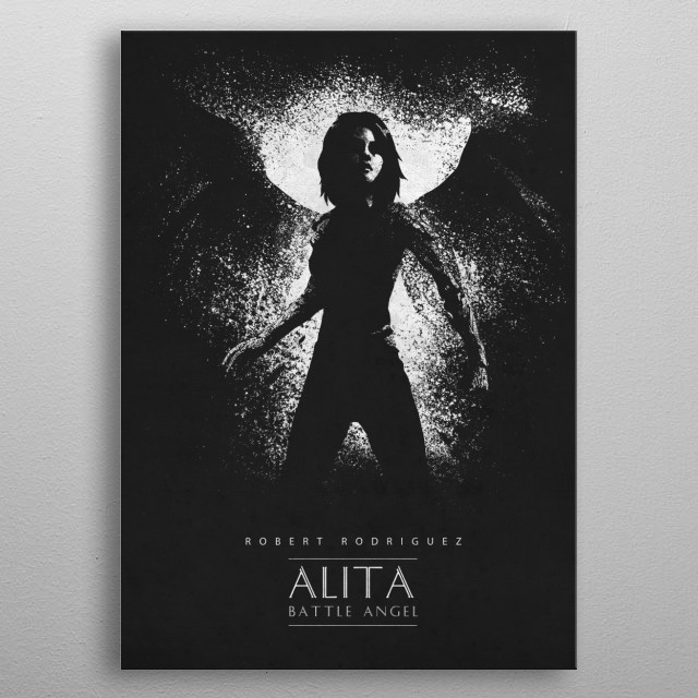Battle Angel metal poster