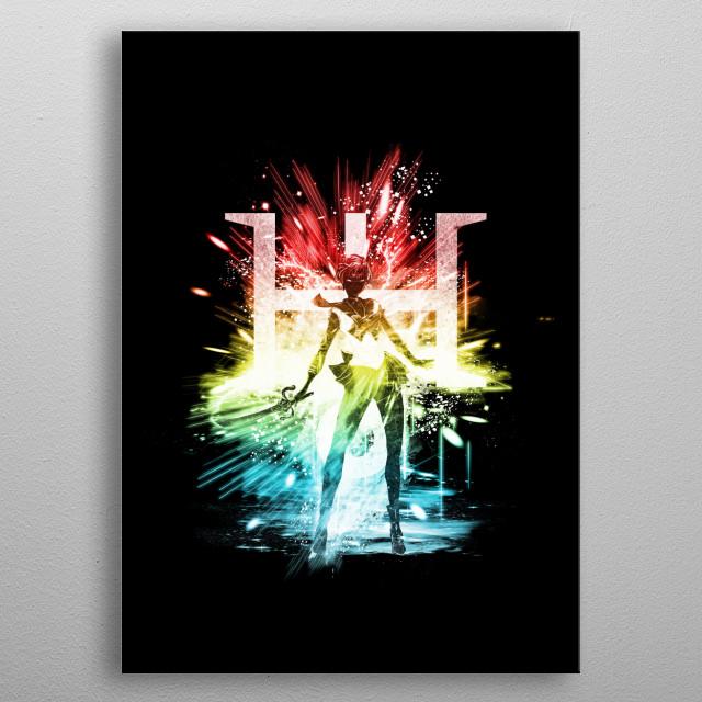 sailor uranus metal poster