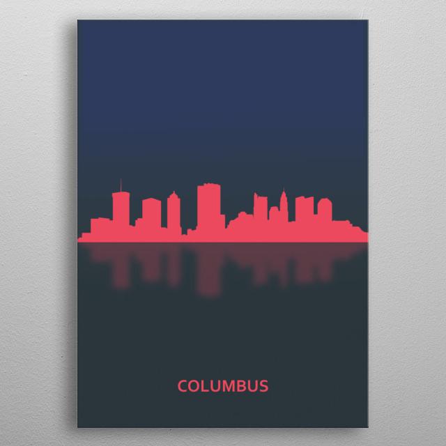 Columbus, USA metal poster