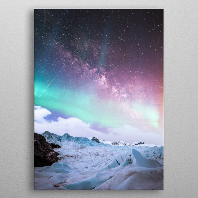 High-quality metal print from amazing Cosmos collection will bring unique style to your space and will show off your personality. metal poster