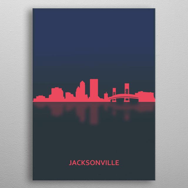 Jacksonville, USA metal poster
