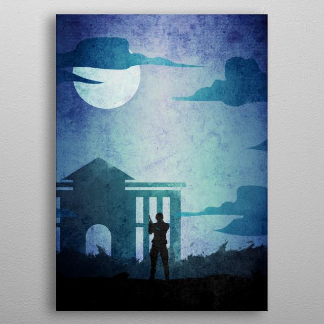 Resident Evil 2  Leon  metal poster