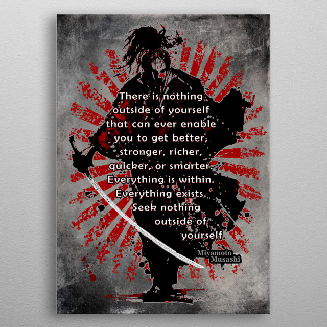 """""""there is nothing outside of yourself that can ever enable you to get better, stronger, richer, quicker, or smarter.... metal poster"""