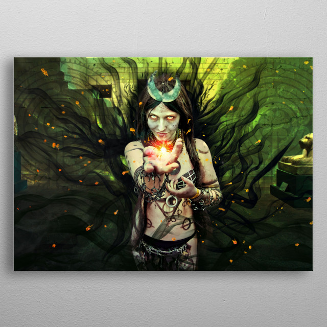 inspired by Super villains & Heroes  photo edits and artwork metal poster