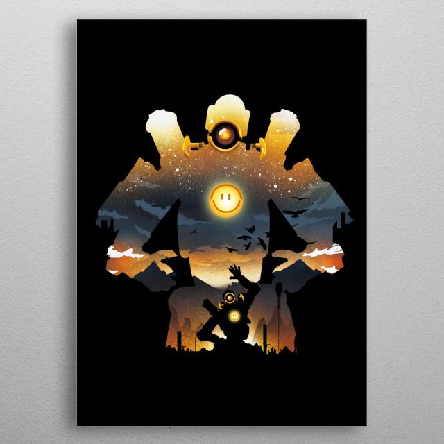 Grappling Robot metal poster