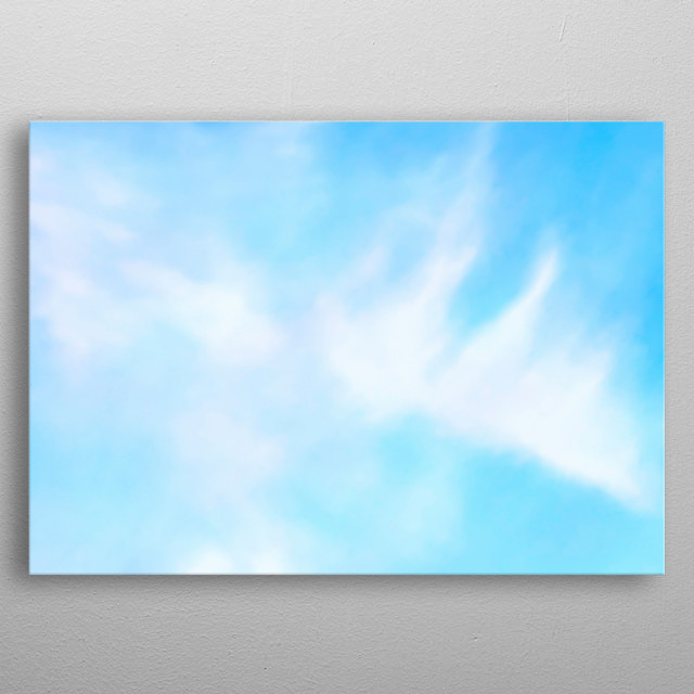 Clouds on blue sky metal poster