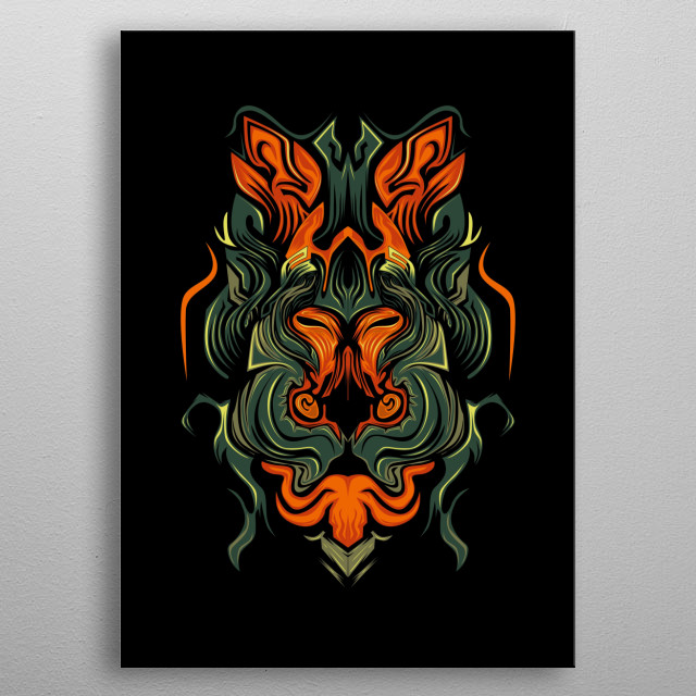 amazing design, of course this will make you look cool and awesome. With a good concept and color combination, making this design unique metal poster