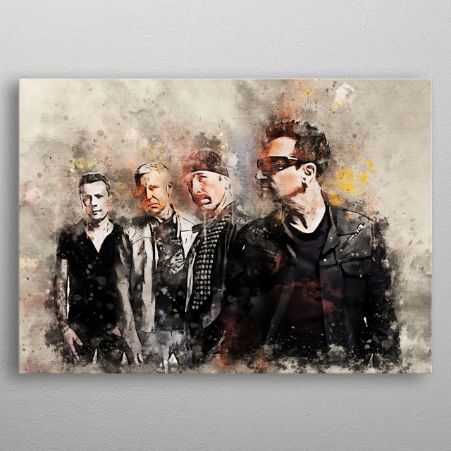 U2 is a popular Irish music group consisting of Bono, The Edge, Adam Clayton and Larry Mullen, Jr. This music group was formed in 1976 metal poster