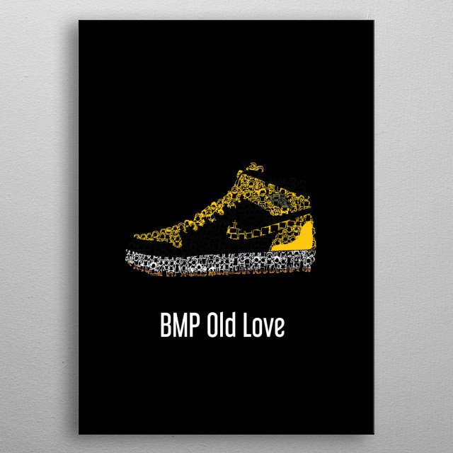 Air Jordan 1 BMP Old Love metal poster
