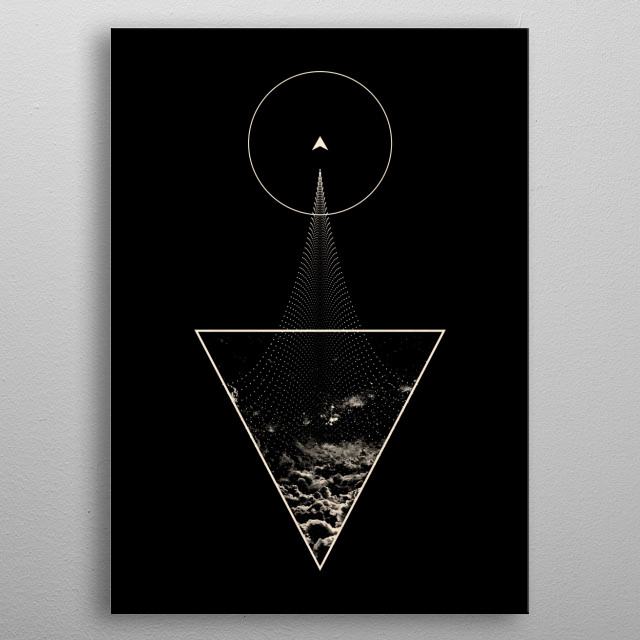 back to the space metal poster