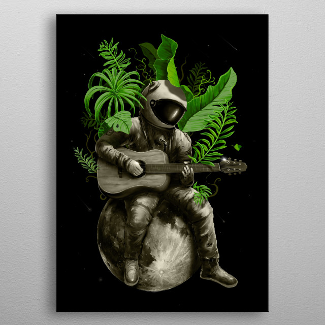 A positive vibe in space. metal poster
