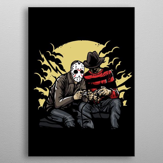 Dark Gamers painting. metal poster
