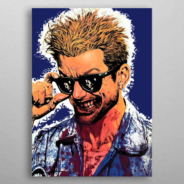 """Artwork inspired by the 90s comicbook  """"Preacher."""" metal poster"""