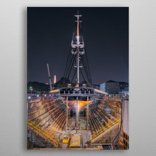 Charlestown Navy Yard Repairs metal poster