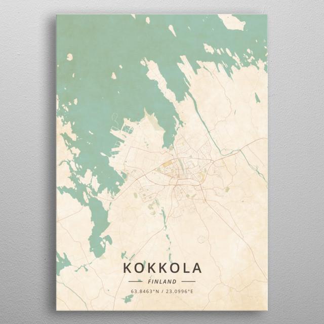 Kokkola, Finland metal poster