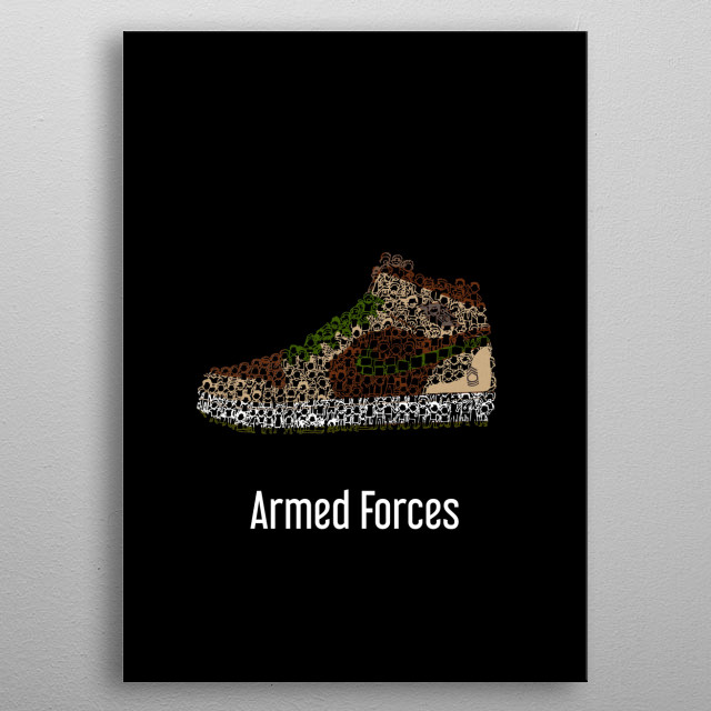 Air Jordan 1 Armed Forces metal poster