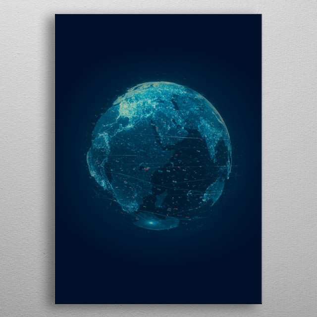 The planets in solar system didn't appear out of nowhere. Neither did the sun, moon, earth, Jupiter, Pluto, Mercury, Saturn, Venus, Mars. metal poster