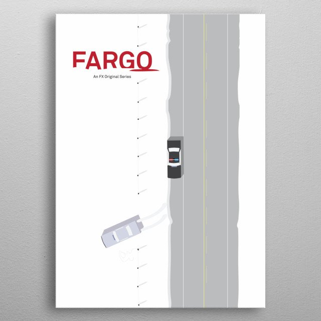 Minimal poster, Fargo  FX TV serie, season 1 metal poster