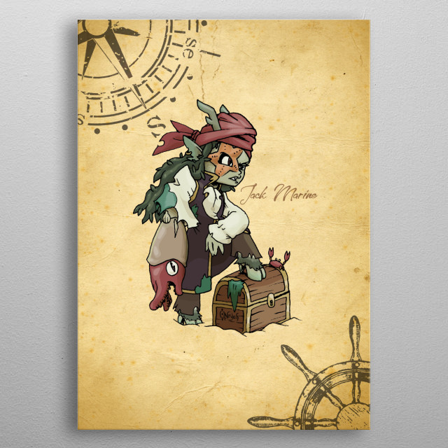 This Faureé, son of fauns and pixies, has lost its memory, its life and its reason to be. Now is a sea vagabond with a deep empty heart metal poster
