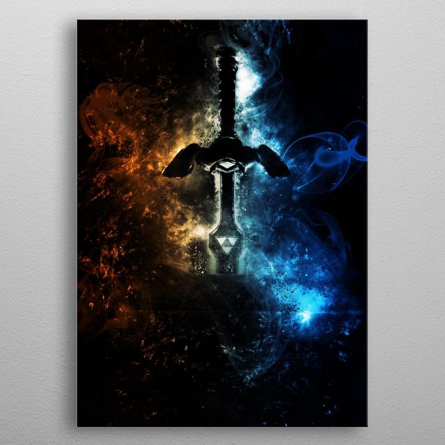 master sword  metal poster