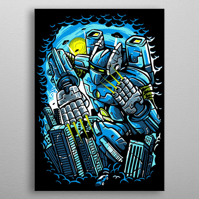 Destroy The City painting. metal poster