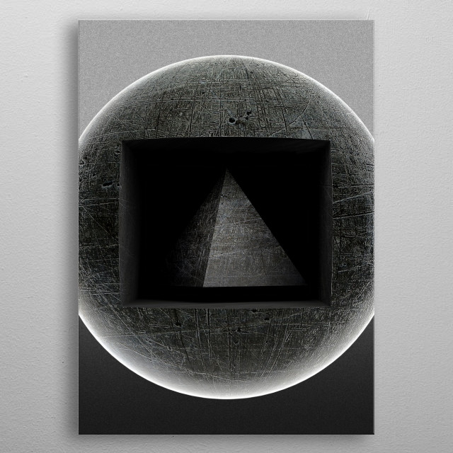 Abstract view, geometric forms of harmony.   metal poster