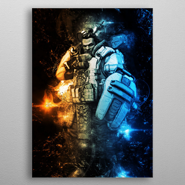 High-quality metal print from amazing Gaming Characters Epic collection will bring unique style to your space and will show off your personality. metal poster
