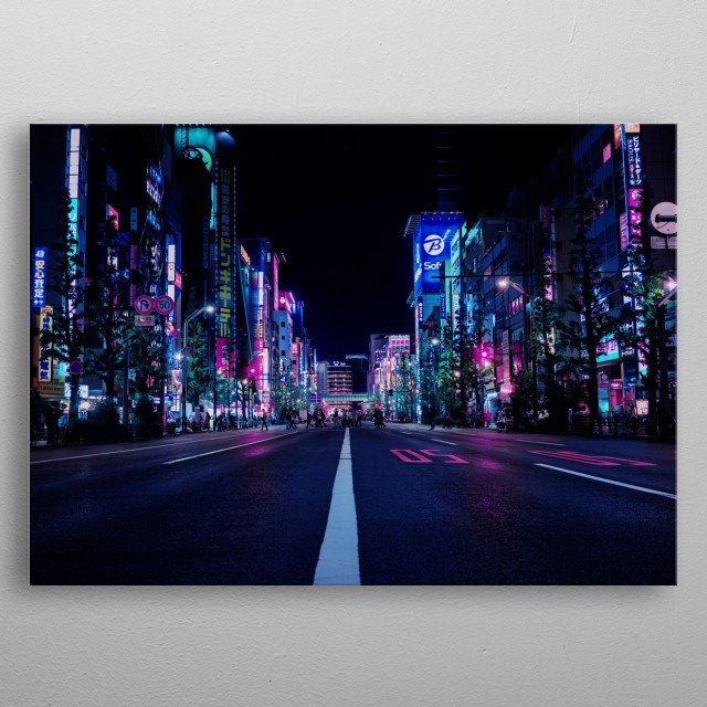 High-quality metal print from amazing Neon City collection will bring unique style to your space and will show off your personality. metal poster
