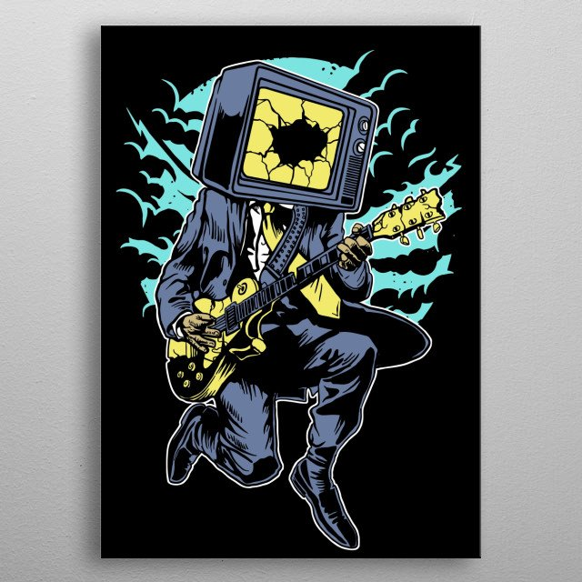 Death Rock painting. metal poster