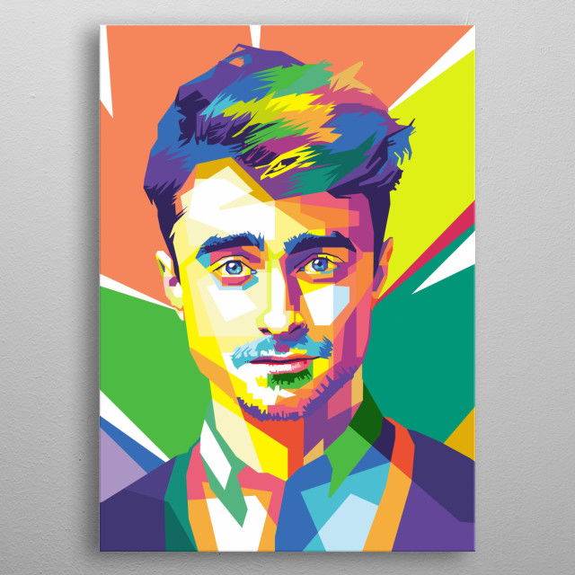 Daniel Radcliffe in WPAP metal poster