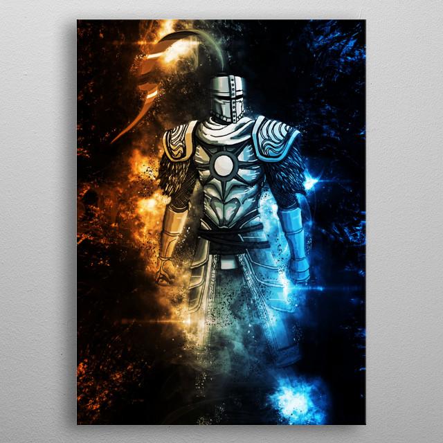 solaire of astora dark souls metal poster
