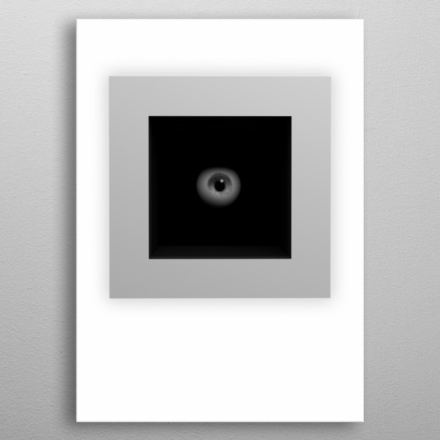Abstract poster about spying. metal poster