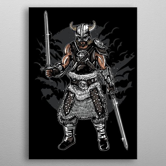 Dark Viking painting. metal poster