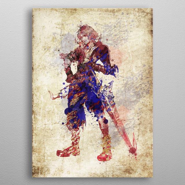 Tidus - Final Fantasy 10 metal poster