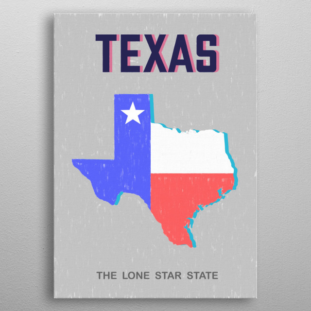 States Of America  metal poster