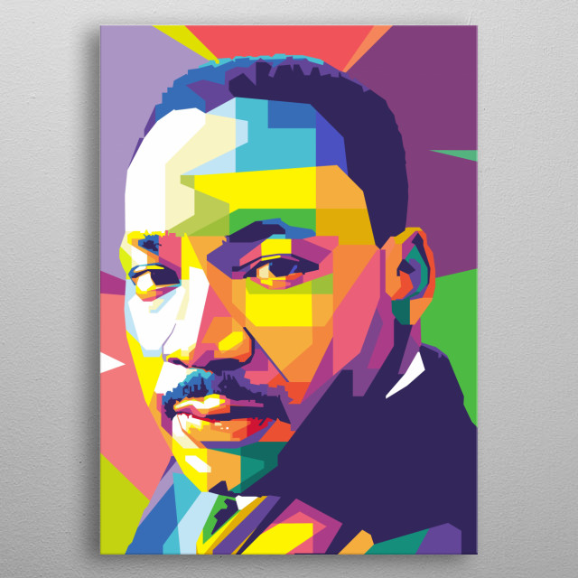 Martin luther king in wpap metal poster